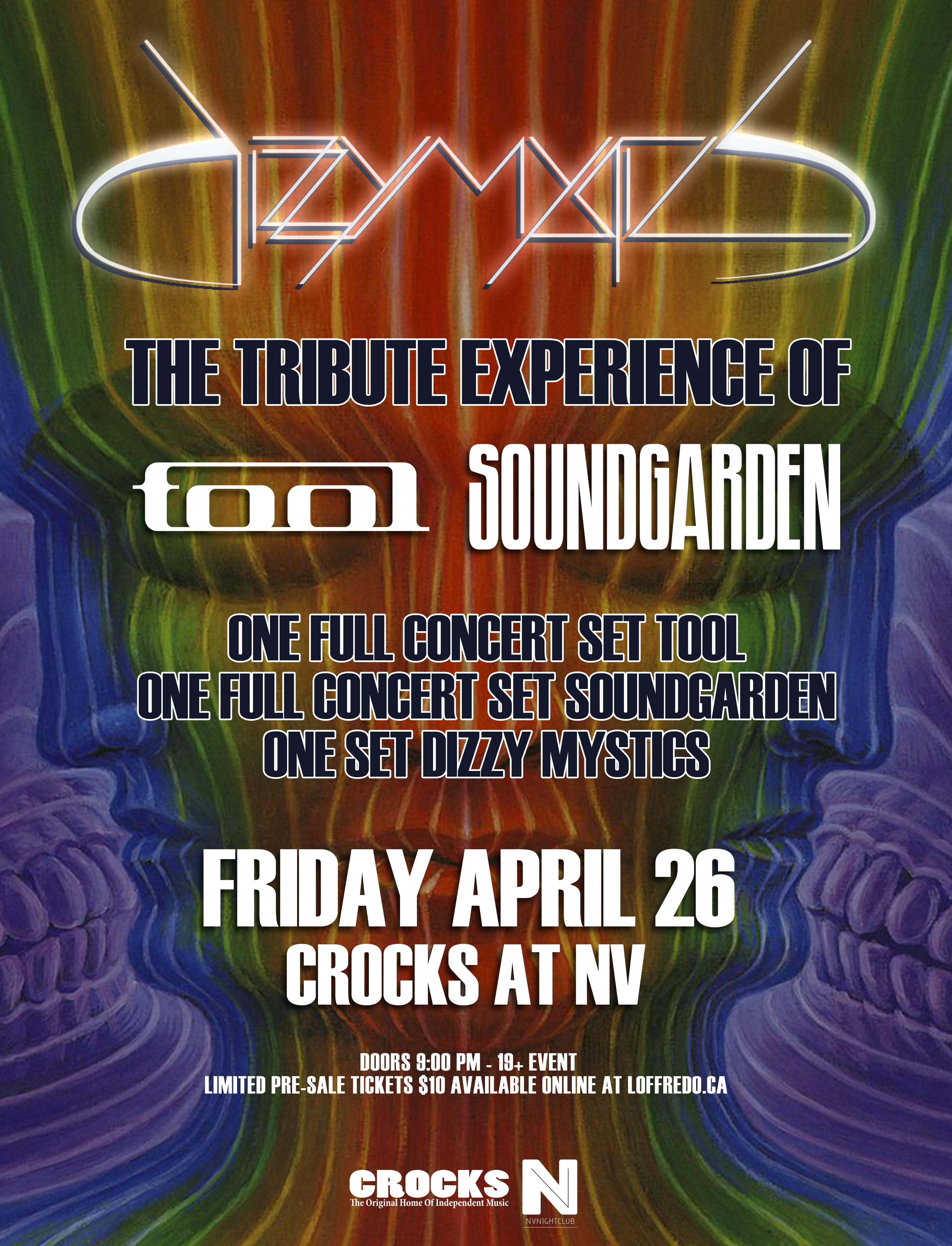 Dizzy Mystics - Ultimate Soundgarden & Tool Tribute Experience - April 26 00294