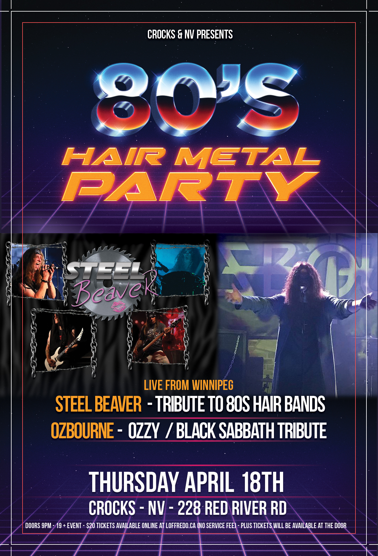 80s Hair Metal Party w/ Steel Beaver & Ozbourne - April 18 00295