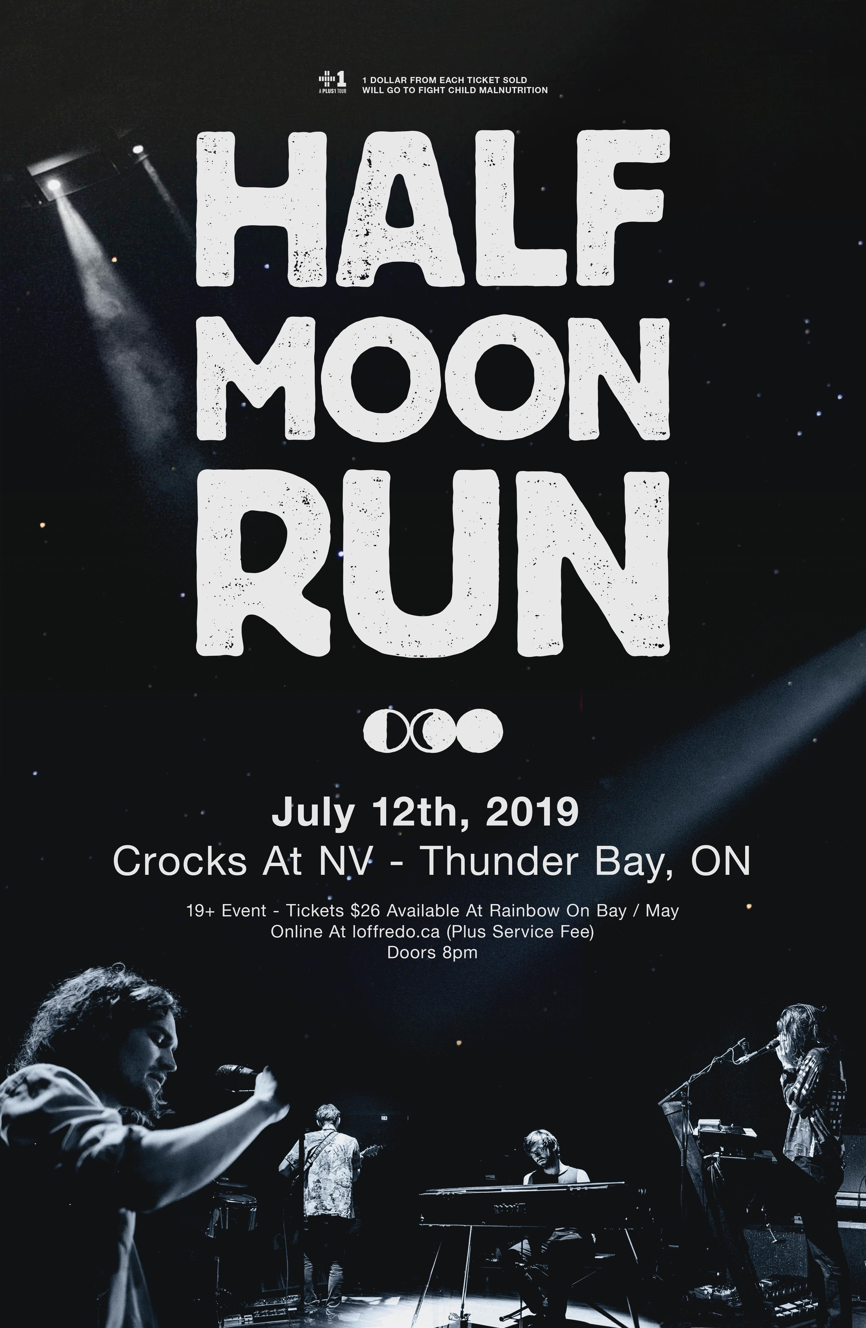 Half Moon Run - July 12th | Crocks At NV 00296