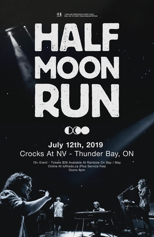 Half Moon Run - July 12th | Crocks At NV