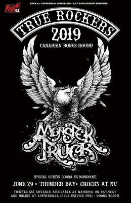 (GA) Monster Truck - Live In Thunder Bay - Crocks at NV - June 29