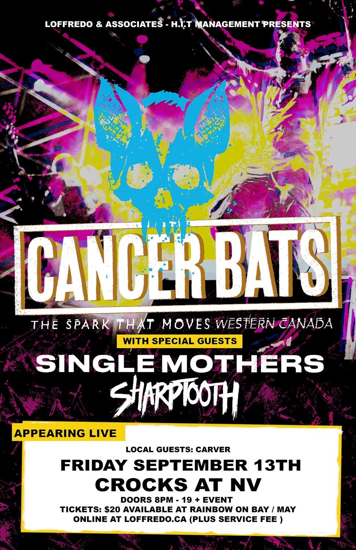 Cancer Bats - September 13th - Crocks at NV