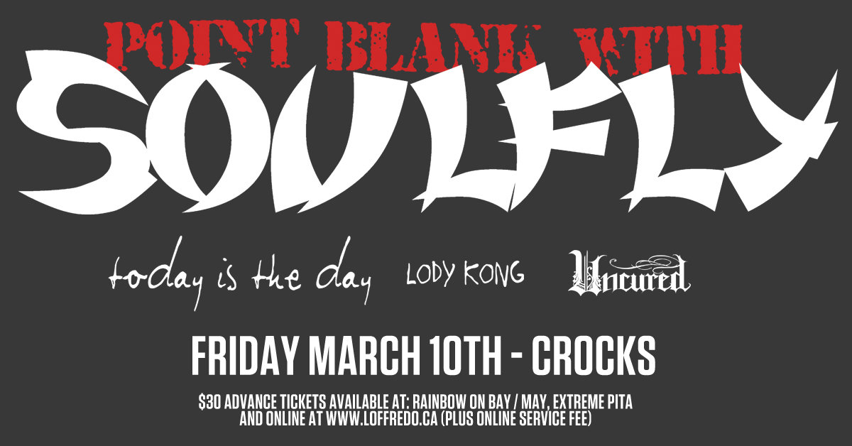 "SOULFLY as NAILBOMB (Performing ""Point Blank"" by Nailbomb in its entirety) - March 10th at Crocks 00252"