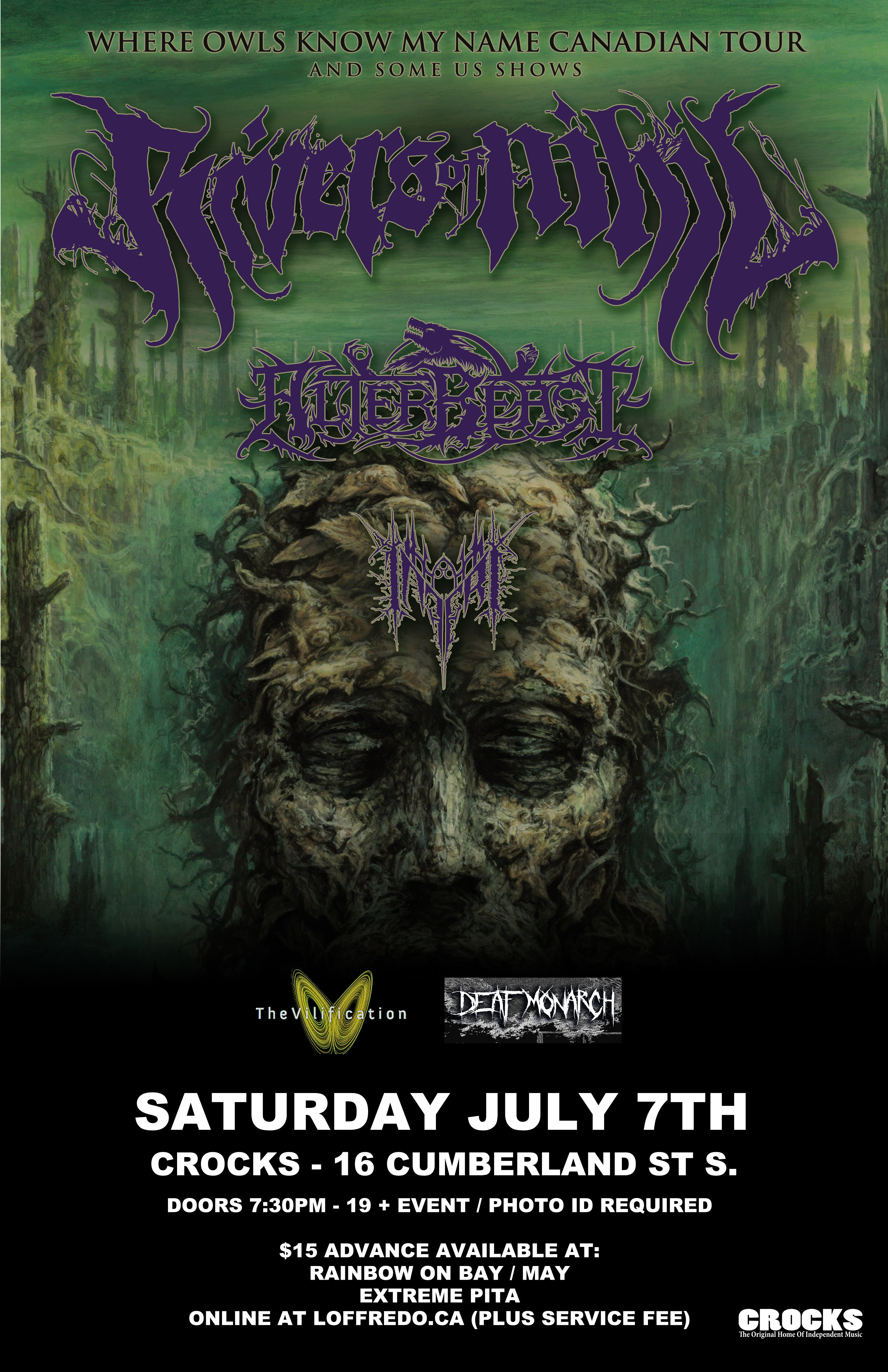 Rivers Of Nihil w/ Guests - Saturday July 7th at Crocks 00268