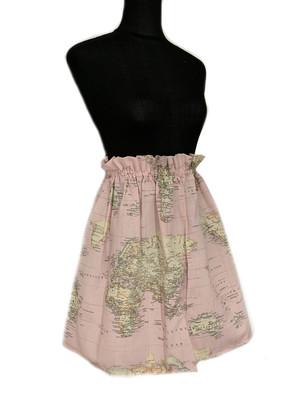 Falda mapa rosa