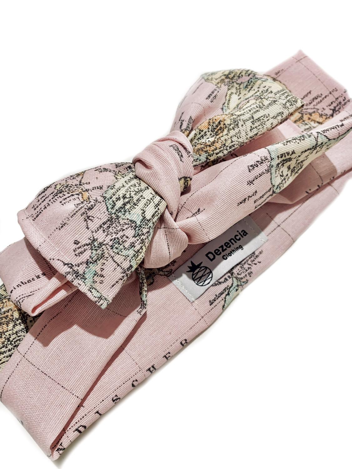 Turbante mapa rosa