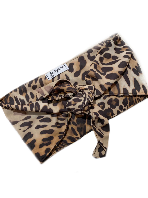 Top anudado leopardo