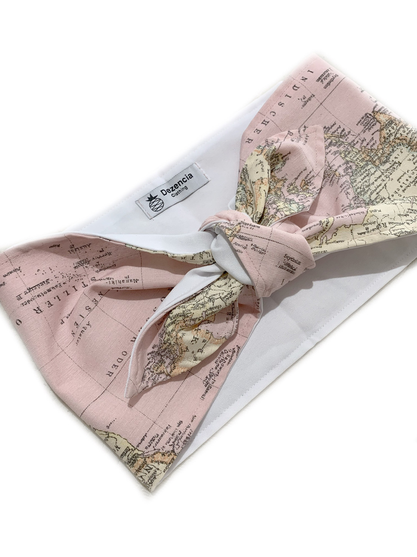 Top anudado mapa rosa