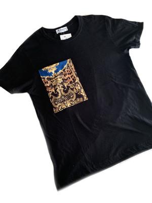 Camiseta bolsillo leopardo