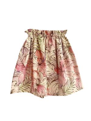 Falda floral tonos rosa y verde