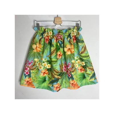 Falda verde floral