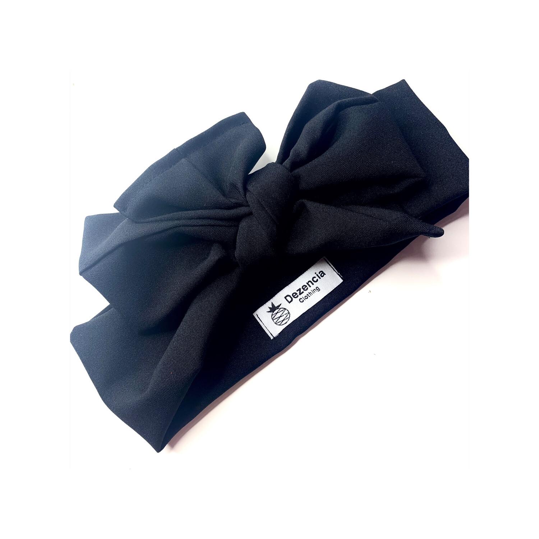 Turbante negro liso
