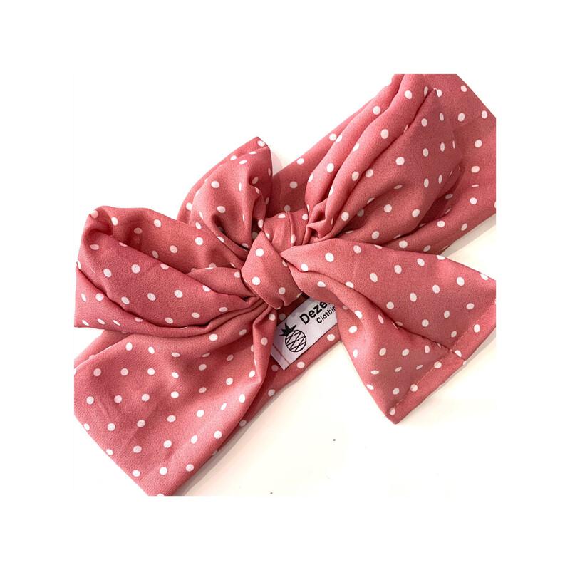 Turbante rosa topos
