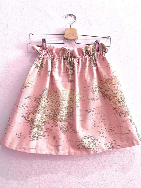 Falda de mapa Rosa/Azul