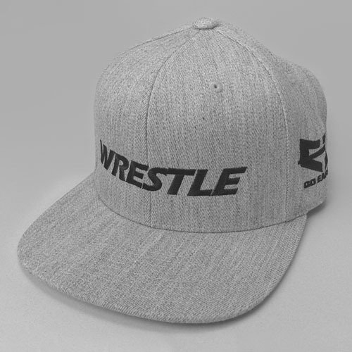 WRESTLE Snapback Hat - Gray Heather 0218-100-snap-grayheather_black-lettering