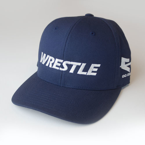 WRESTLE Fitted Hat - Blue 04-001-000-00111-**-WRESTLE_HatFit_BluBILL_BluTOP_WhtLTR-Mix-