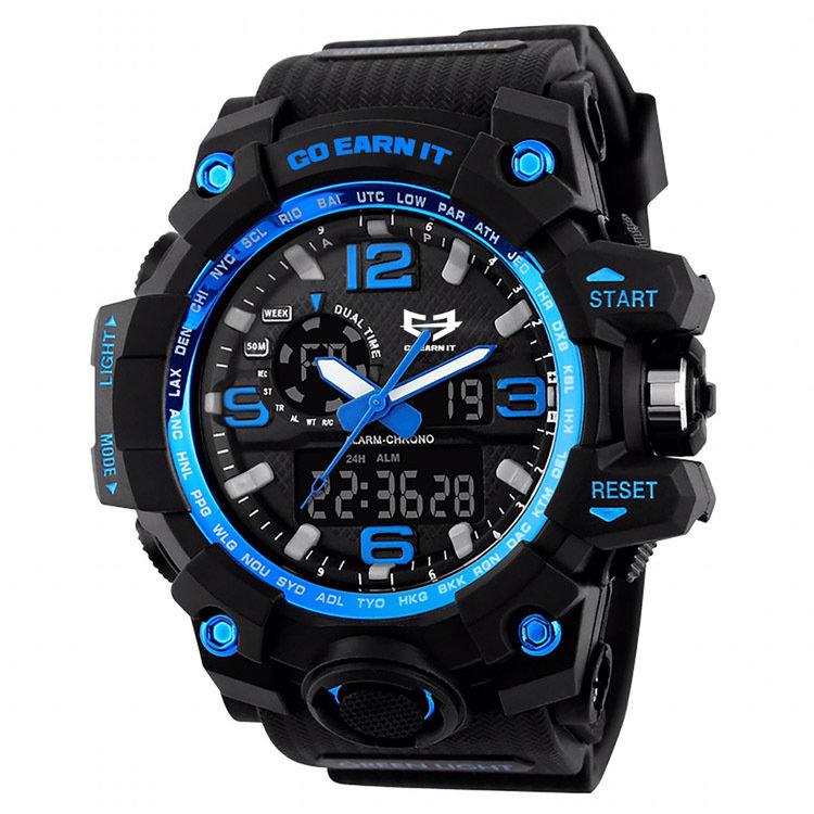 Go Earn It ALPHA Sports Watch - Blue 04-007-000-00101-**-SportsWatch-Blu-Unv