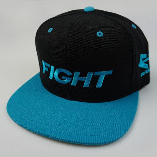 FIGHT Snapback Hat - Blue 04-001-000-00116-**-FIGHT_HatSnap_BluBILL_BlkTOP_BluLTR-Mix-