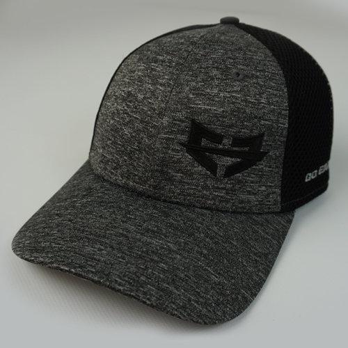THE LIFESTYLE HAT (Black) 04-001-000-00119-**-GEI_MeshFit_GryBILL_GryTOP_BlkLTR-Mix-