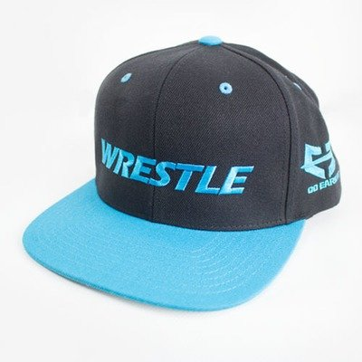 WRESTLE Snapback Hat - Black and Blue