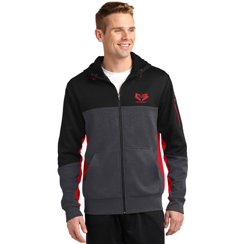 NAVIGATOR TECH FLEECE HOODIE 01-005-001-00102-00-NavTechFleece-GryRed-*