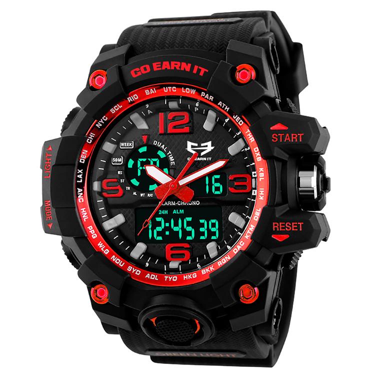 Go Earn It ALPHA Sports Watch - Red 04-007-000-00101-**-SportsWatch-Red-Unv