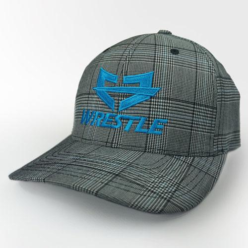 WRESTLE PLAID Series Gray Blue 04-001-000-00123-**-WRESTLE_BluLogo_GrayPlaid