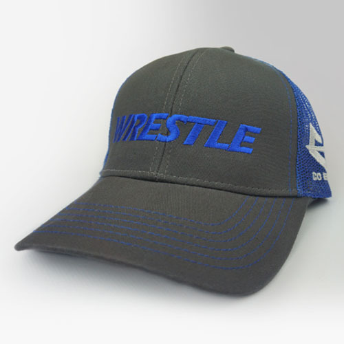 WRESTLE - Trucker Series - Blue 04-001-000-00126-**-WRESTLE_Trucker-GryBill_BluMesh_BluTxt