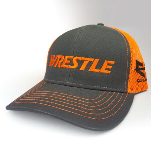 WRESTLE - Trucker Series - Orange 04-001-000-00127-**-WRESTLE_Trucker-GryBill_OrgMesh_OrgTxt