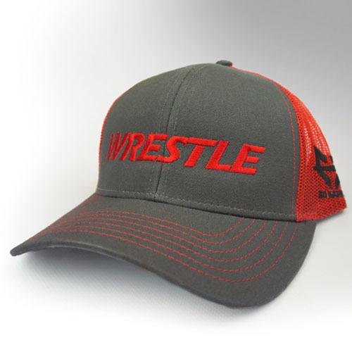 WRESTLE - Trucker Series - Red 04-001-000-00128-**-WRESTLE_Trucker-GryBill_RedMesh_RedTxt