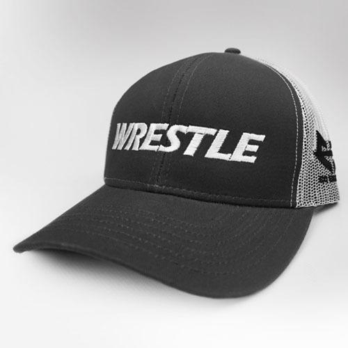 WRESTLE - Trucker Series - Black 04-001-000-00124-**-WRESTLE_Trucker-BlkBill_WhtMesh_WhtTxt