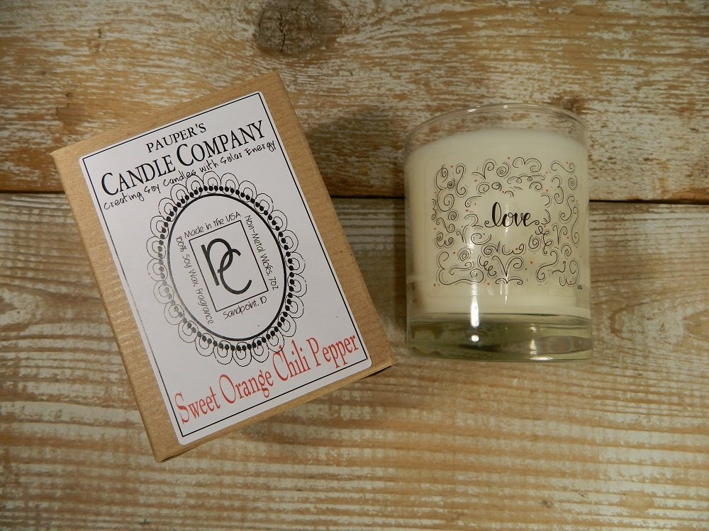 Choose - Your - Sticker - Message: LOVE & then candle scent