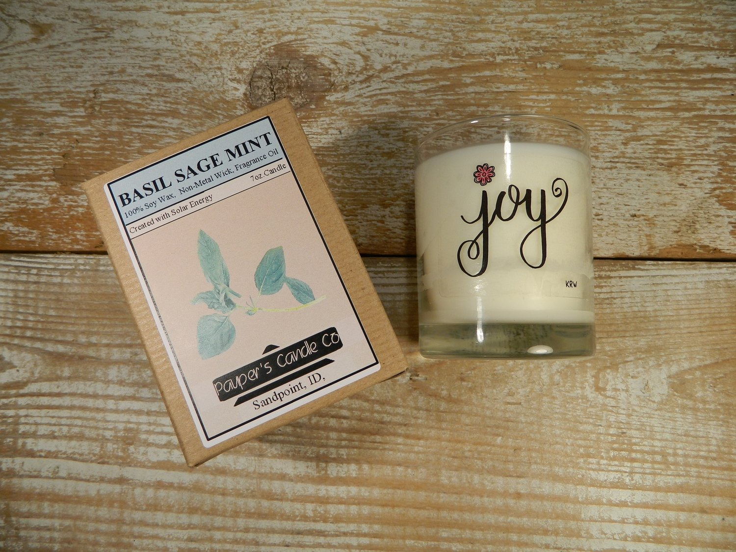 Choose - Your - Sticker - Message: JOY & then candle scent