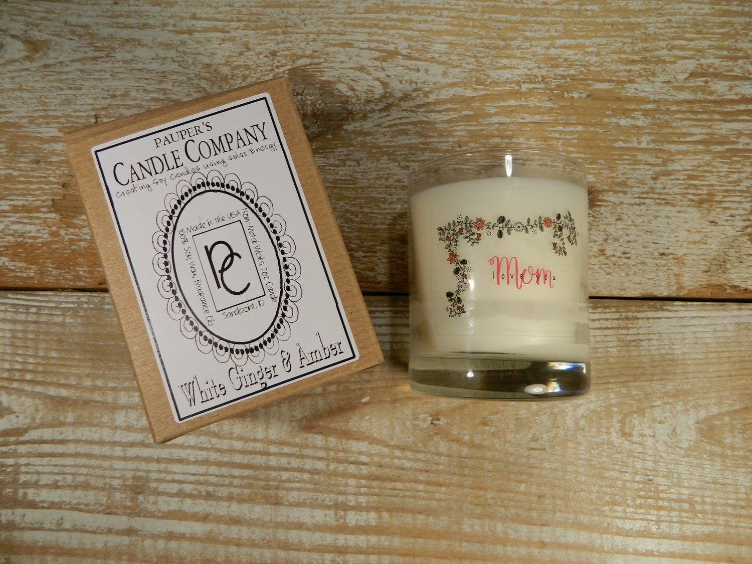 Choose - Your - Sticker - Message: LOVE YOU MOM & then candle scent