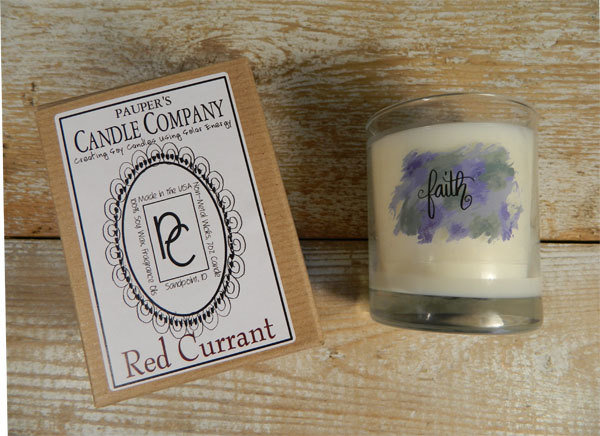 Choose - Your - Sticker - Message: FAITH & then candle scent