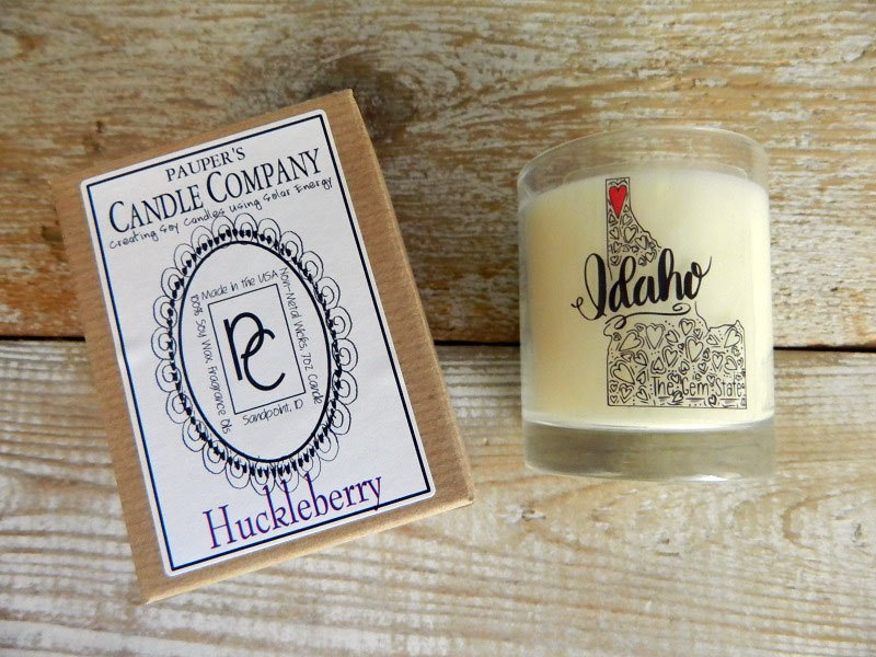 Choose - Your - Sticker - Message: IDAHO & then candle scent