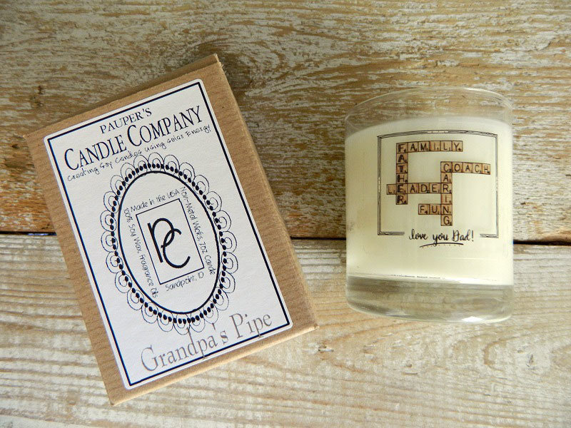 Choose - Your - Sticker - Message: LOVE YOU DAD & then Candle Scent