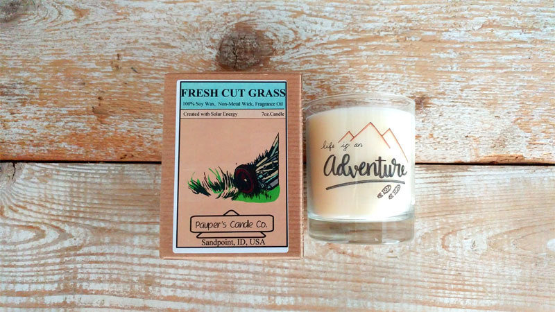 Choose - Your - Sticker - Message: LIFE IS & then candle scent