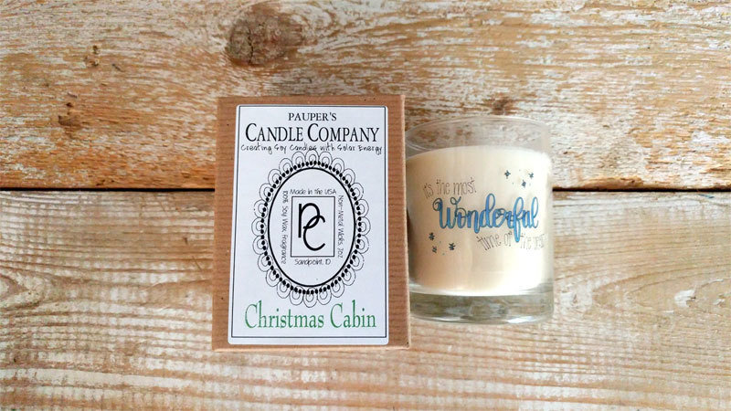 A Holiday Choose - Your - Sticker - Message: WONDERFUL & then candle scent