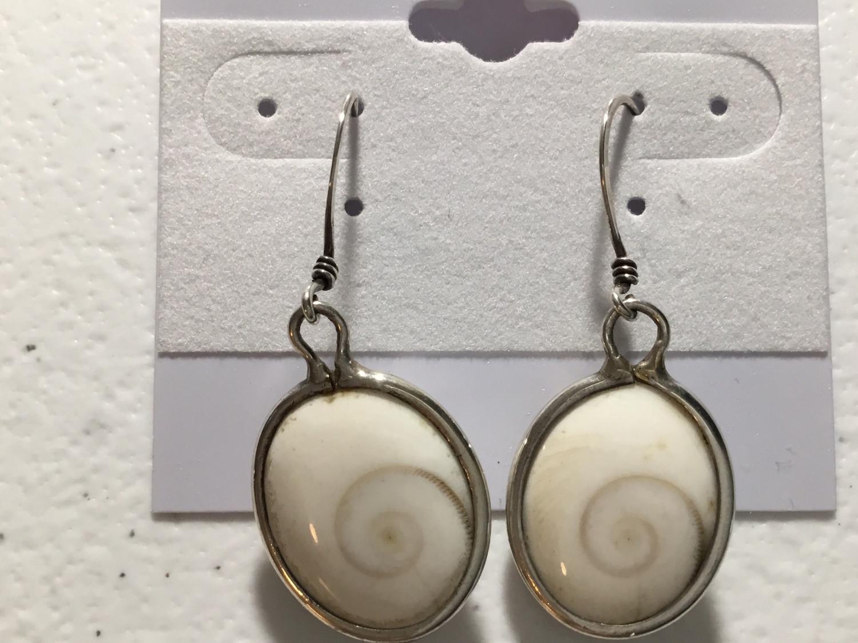 Sterling Silver Lg Oval Shiva Earrings