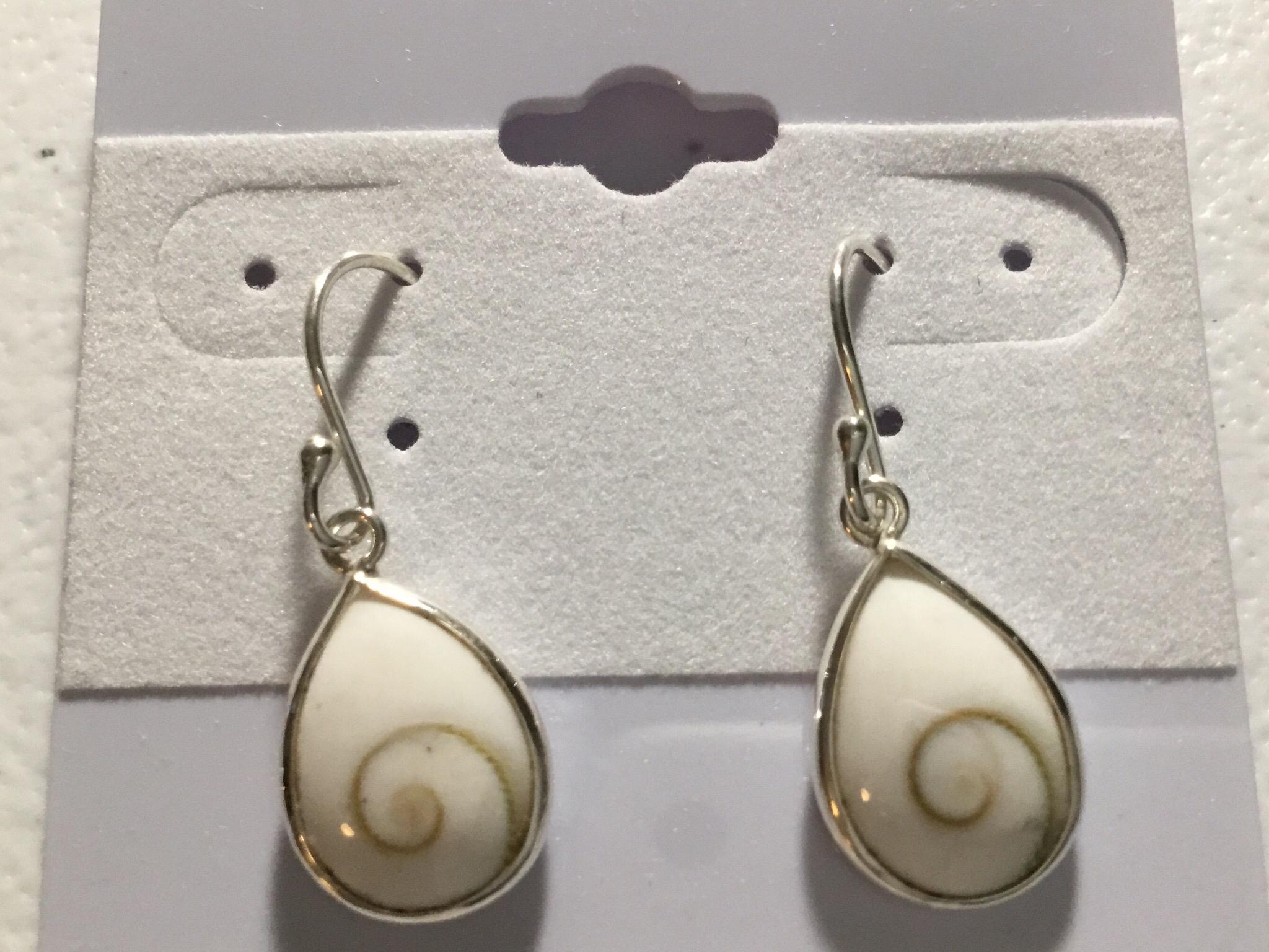 Sterling Silver Small Teardrop Shiva Earrings  AER-4603