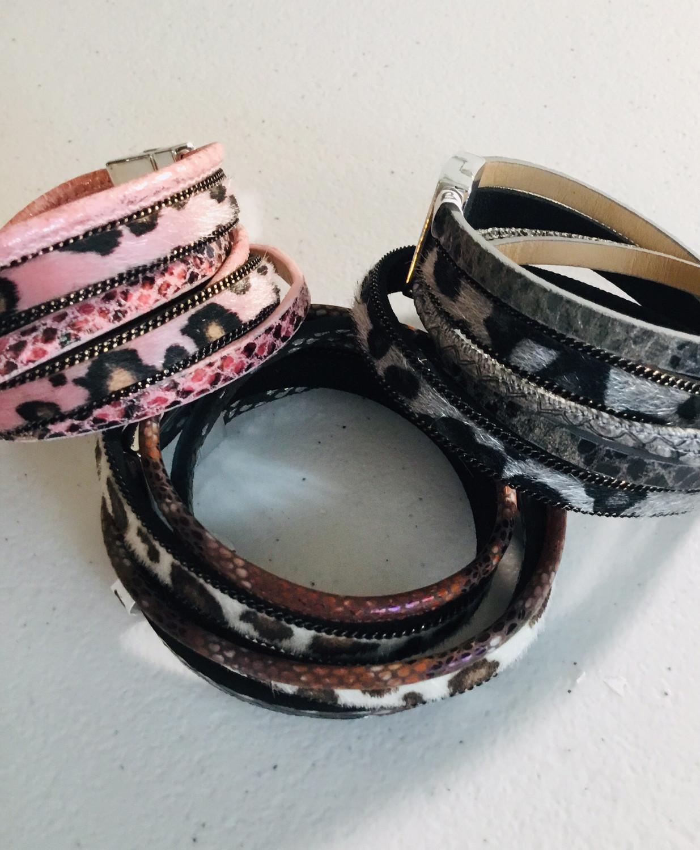 Wrap Bracelet with Animal Print