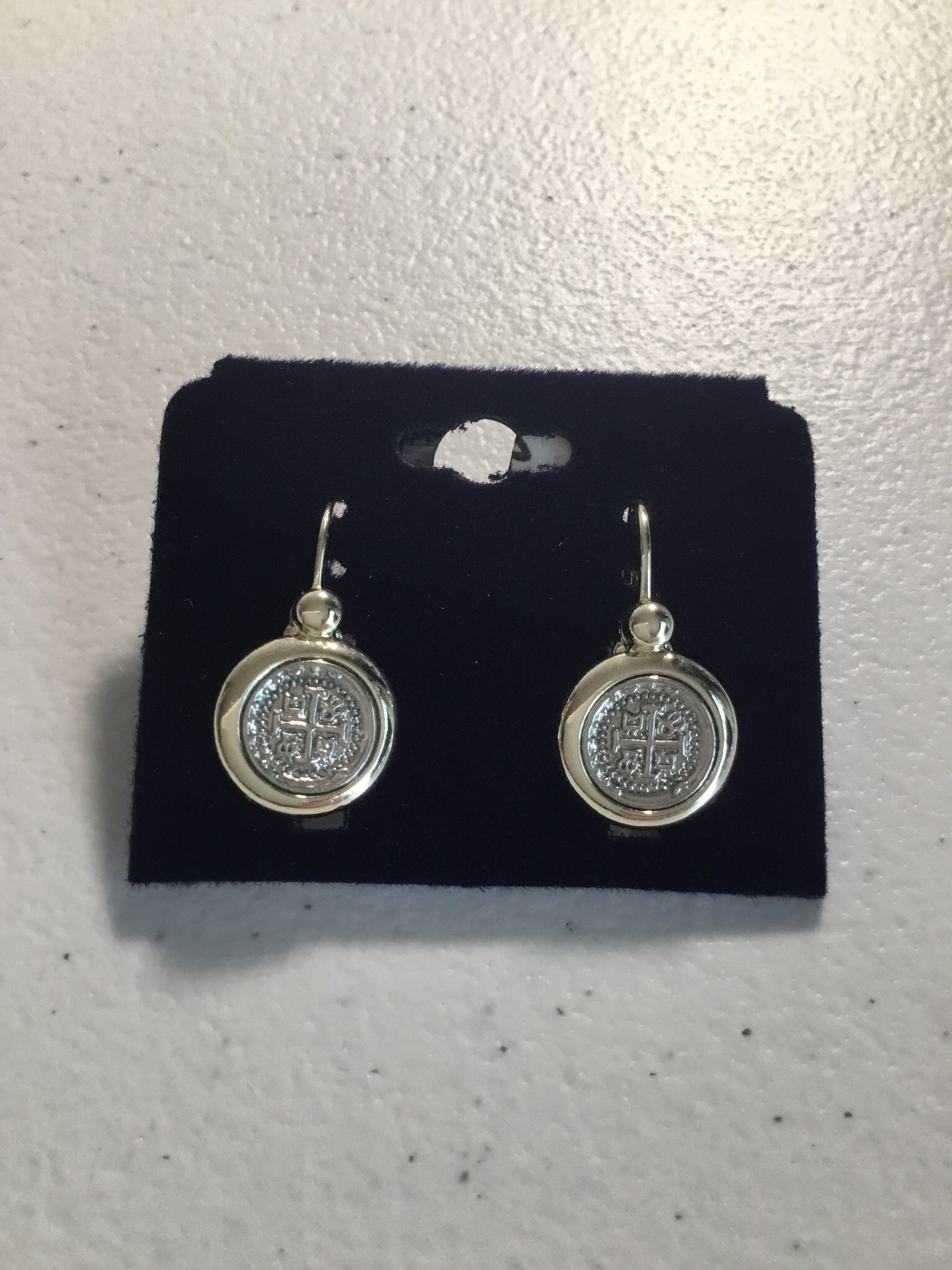 Silver Small Coins Earrings 00000