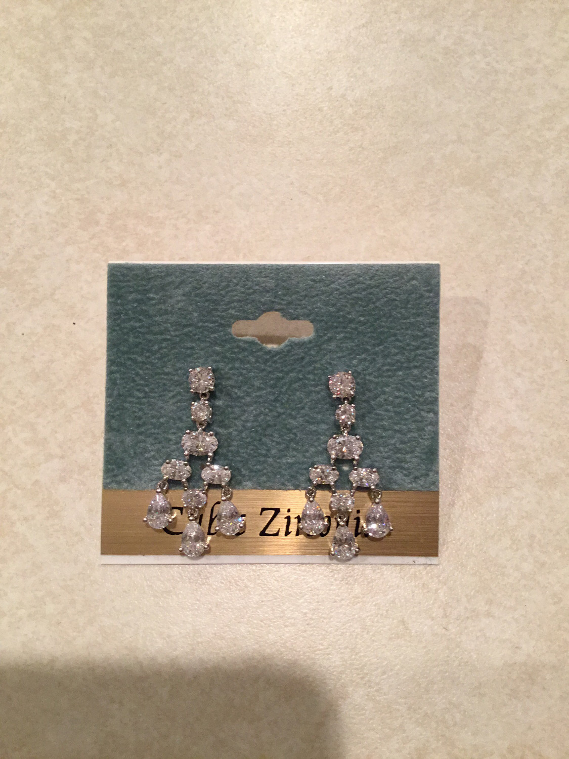 Beautiful Round, Oval And Pear Shaped Crystal Earrings