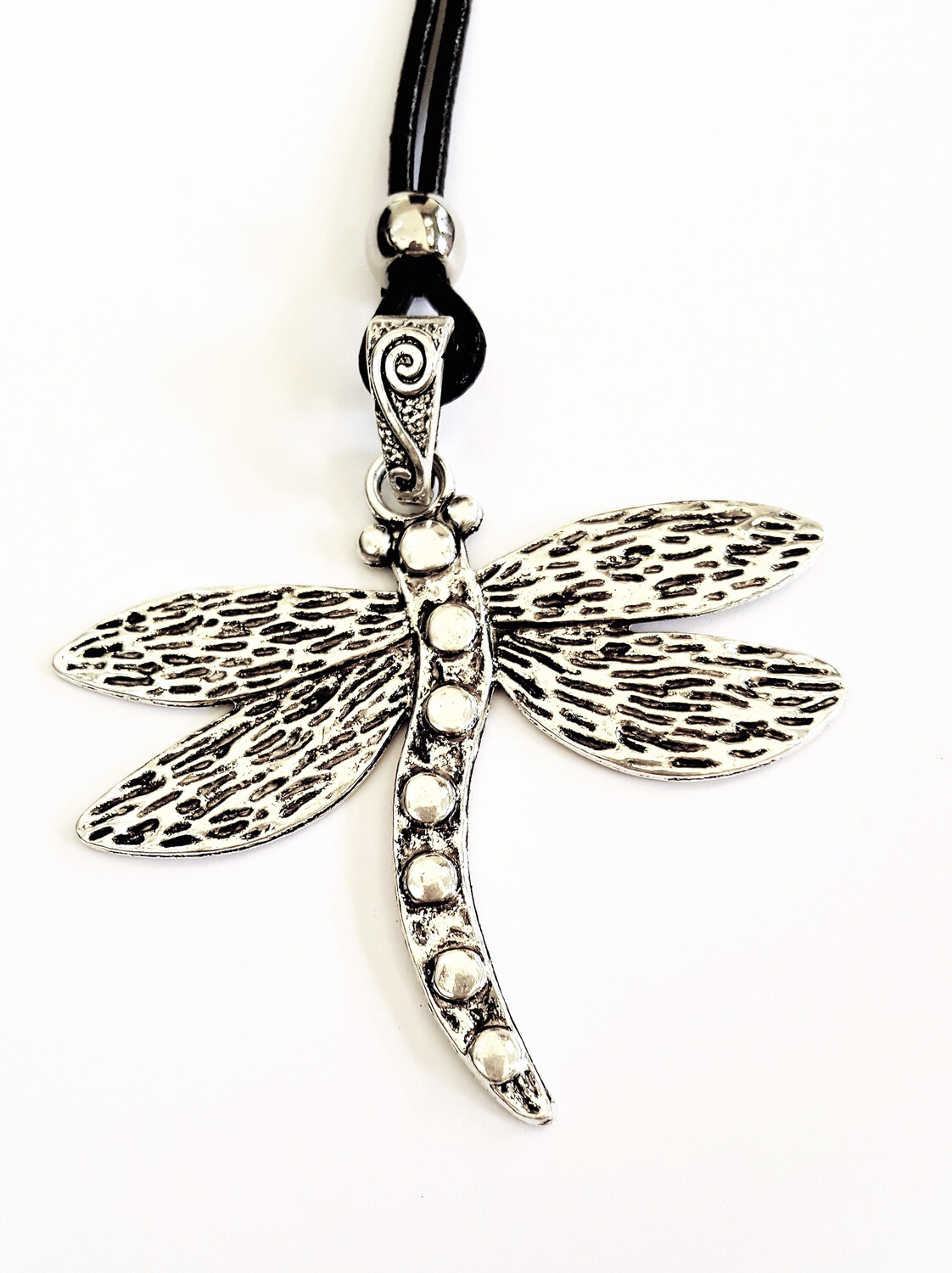 Dragonfly Long Necklace With Dots