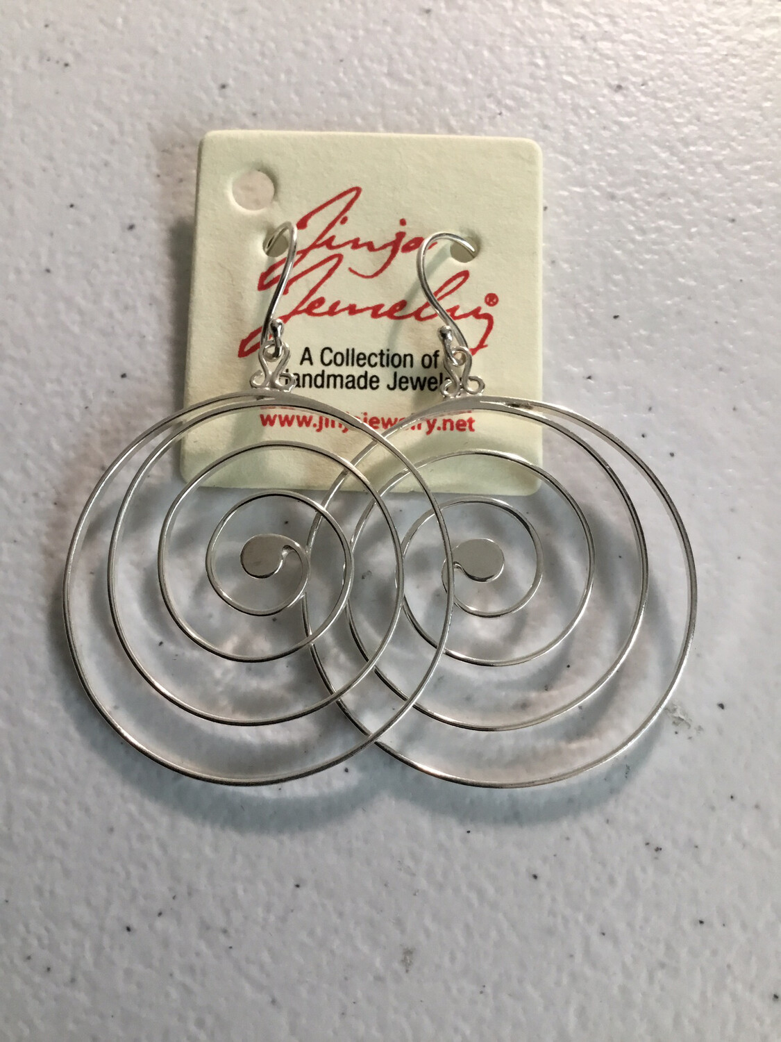 Circle of Life Sterling Silver Open Earrings