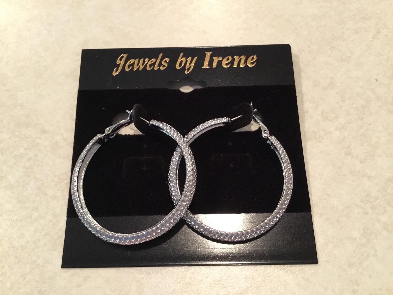 Silver Hoop Earrings Medium