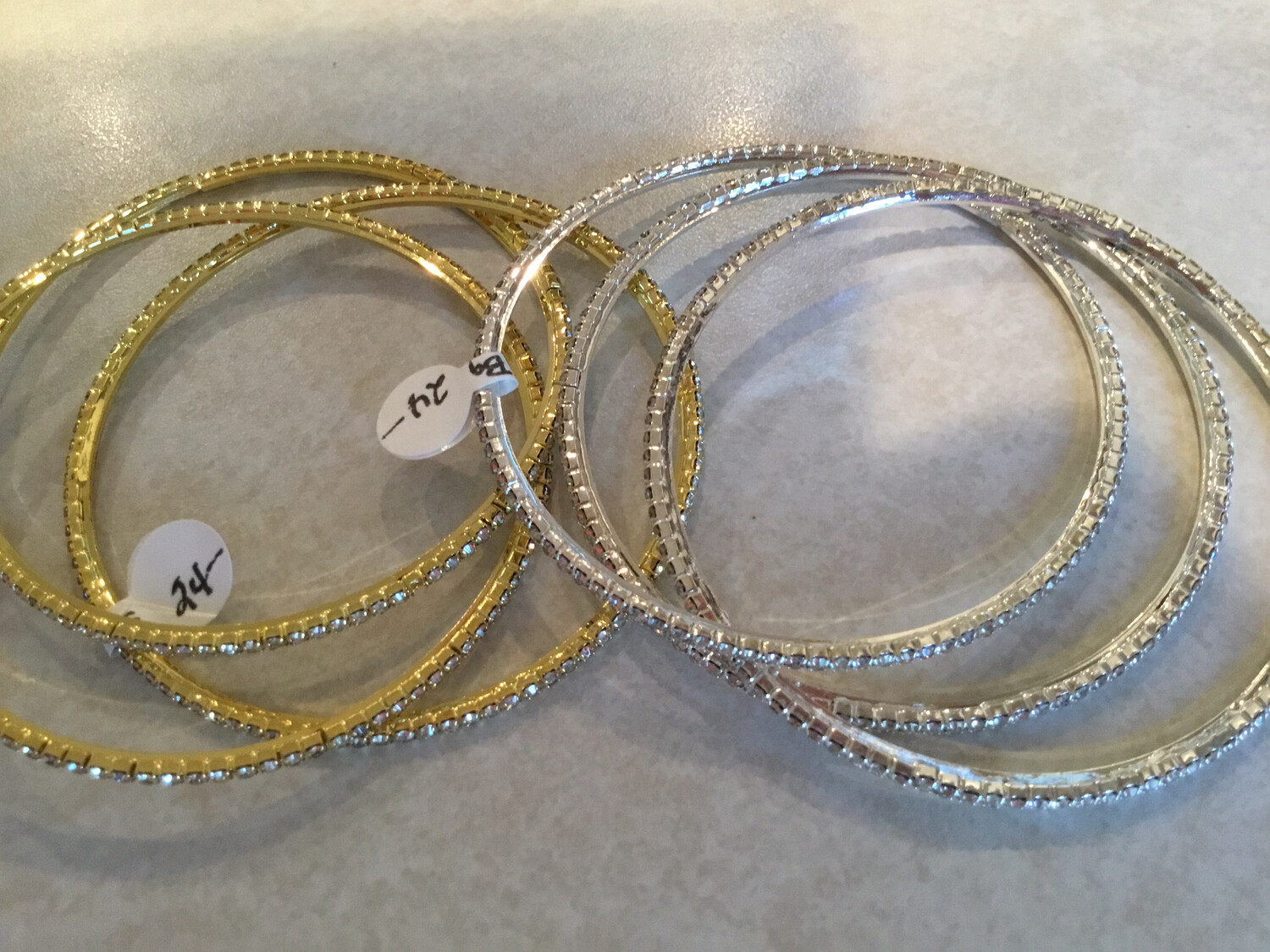 Three Bangle Set In Gold Or Silver
