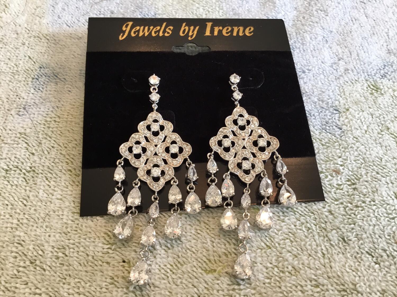 Chandelier Long Crystal Earrings