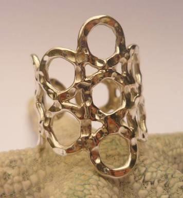 Hammered Circle Ring